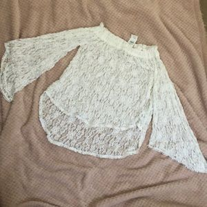 Abercrombie & Fitch Off Shoulder blouse white S